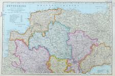 DEVONSHIRE, 1910  - Original Large Antique County Map, Bacon.