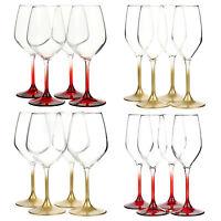 4 x Bormioli Rocco Coloured Stem Champagne Flutes Wine Glasses Glass Wedding New