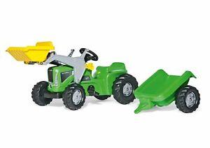 Rolly Toys Futura Trettraktor mit Frontlader + Anhänger, ab 2,5 Jahre, Schlepper