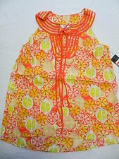 $50 - WOMENS lightweight SHIRT TOP BLOUSE = CROWN & IVY = SIZE XS = ab62