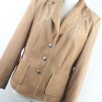 Klass Collection Women's UK Size 16 Brown Polyester Jacket (Regular)