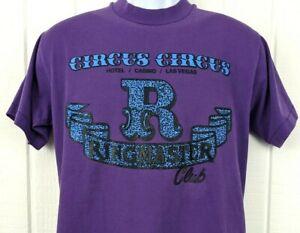 Vintage 90s Circus Circus Ringmaster Club Las Vegas Casino Hotel Graphic T Shirt