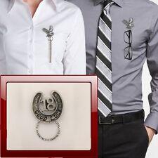 FERRO di cavallo 18 r179 Peltro Perno SPILLA DROP Hoop titolare per occhiali, penne, gioielli