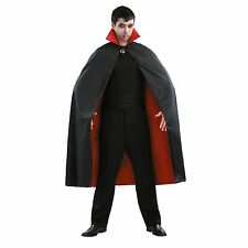 Unisex 54-inch Vampire Cape Halloween Costume Black & Red Osfm #788