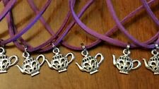 Lot of 10 necklaces ♡Birthday Party Favors ♡ TEA PARTY /teapot pendants