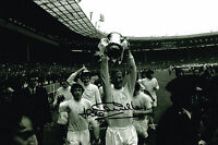 JACK CHARLTON HAND SIGNED 1972 WITH FA CUP PHOTO LEEDS UNITED COA AUTOGRAPH 2