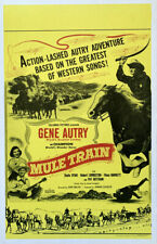 MULE TRAIN Benton window card
