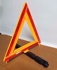 Roadside Emergency Reflective Triangle   Easy to store Collapsible NEW