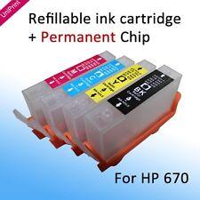 Deskjet 3525 4615 4625 5525 6525 Refillable Cartridge for HP 670 South America