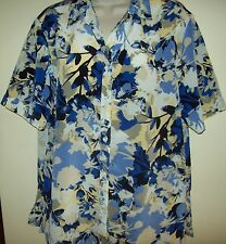 Black Pepper by Breakaway short-sleeved floral shirt/blouse Size 16