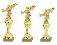 3er Serie Pokale Fisch Forelle gold (630-FO) 26-23cm inkl.Gravur 23,95 EUR