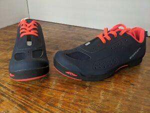 New! Louis Garneau Women's Urban Cycling Shoes Dark Night/ Coral Size 6.5 EU 37