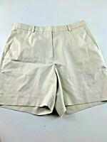"Brooks Bros. #346 Beige 100% Cotton Flat Front Shorts 12.  30x6x12"""