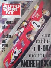Autosprint n°6 1972 Ferrari 312 P dominio su ALFA ROMEO 33tt3 e LOLA  [P47]