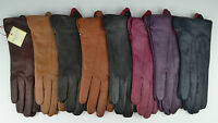Dents Ladies Jessica imipec Peccary Leather Gloves red,green,black,navy,brown