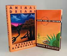 Barbara Kingsolver-2 Books-BOTH SIGNED!-TRUE First/1st Editions-Animal-High Tide