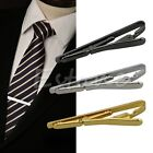 Fashion Men Metal Silver Gold Simple Necktie Tie Bar Clasp Clip Clamp Pin