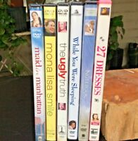 Lot of 6 DVD's: 27 Dresses/The Notebook/While You Were Sleeping/The Ugly Truth..