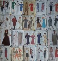 McCALL'S Vintage Sewing Patterns 80's Dresses Skirts Pants Tops  -U Pick! Lot #3