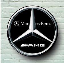 MERCEDES AMG LOGO 2FT LARGE GARAGE SIGN WALL PLAQUE CLASSIC SPORT CAR BENZ