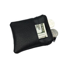 Pu Men Mini Leather Coin Purse Wallet Clutch Change Bag Card Holder Zipper Gift
