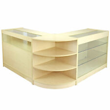 Vendita al dettaglio Contatore Maple Shop Display Storage Cabinet Bloccabile Showcase AQUARIUS