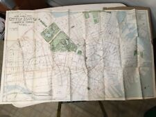 Rare Antique 1900 Map Of Central Business District Boston MA Huge Fold Out