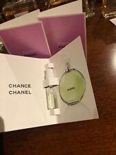 "New ~ 3X CHANEL CHANCE "" Eau Fraiche ""  EDT Fragrance Samples -  Size 1.5ml"