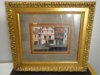 "VINTAGE FRAMED FRENCH PRINT 17.75"" X 20"""