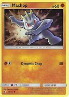 POKEMON SUN & MOON GUARDIANS RISING CARD: MACHOP - 63/145