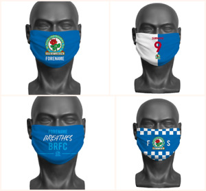 Personalised Blackburn Rovers FC Face Covering / Mask Official Adult