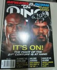 MANNY PACQUIAO Mayweather Ring magazine silver INK authentic AUTOGRAPH signed