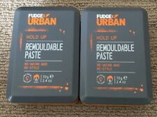 2x Fudge Urban Hold Up Remouldable Paste  Medium Hold Hair Care 70g each