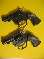 Spielzeugpistole für Karneval 12-Schuss Cowboy-Pistole Buntline mit Holzgriff