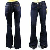 True Religion $220 Women's Forsaken Carrie Low Rise Flare Brand Jeans -WBFK75L25