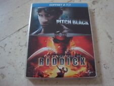 VIN DIESEL 2 Disc Blu-Ray SteelBook PITCH BLACK Chronicles Of Riddick