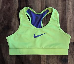 Nike Pro Dri-Fit Yellow & Purple Sports Bra Girls Sz L