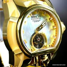 Invicta Reserve Magnum Bolt Zeus Tourbillon MOP Gold Plated Steel 52mm Watch New