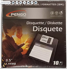 1.44 MB floppy disks DS/HD.  New sealed retail pack of 10 diskettes.