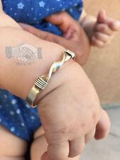 Navajo Native American Indian Sterling Silver Twist Cuff Baby Bracelet Mini Doll