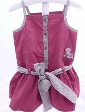 Sergent Major Robe à brides vieux rose motif chien bébé fille 12 mois