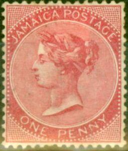 Jamaica 1886 1d Carmine SG18a Good Mtd Mint