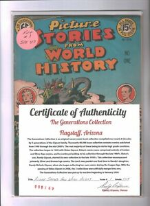 Picture Stories From World History #1 Golden Age EC Comics FN+   {Generations}