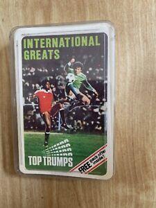 VINTAGE DUBREQ Football INTERNATIONAL GREATS TOP TRUMPS