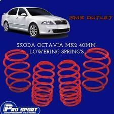 ProSport 40mm Lowering Springs for Skoda Octavia Mk2 Lifetime Warranty 120878