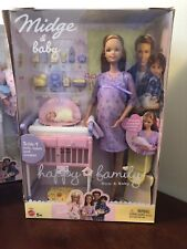 2002 Mattel Barbie Happy Family Pregnant Midge Mom and Baby 56663