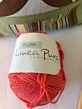 Lana Grossa Linea Pura Flora - Organic Cotton blend Sport wt soft yarn #8 Orange