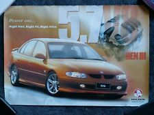 Holden Commodore VT SS gmh show room Dealer Poster