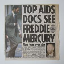 More details for freddie mercury - the sun 8th november 1991 aids newspaper clipping (queen)