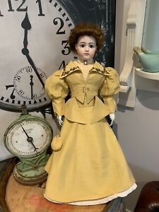 """Exquisite Antique Reproduction French Fashion Doll Large Size 26""""= 66cm Tall"""